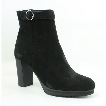 New La Canadienne Womens Moxie Black Suede Ankle Boots Size 10