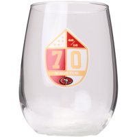 San Francisco 49ers 70th Anniversary Curved Beverage Glass - No Size