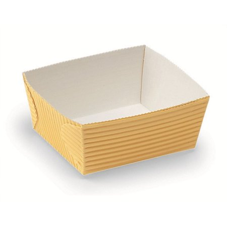2.4L x 2.6W x 1.4H Gateau Baking Tray Yellow,Case of 500