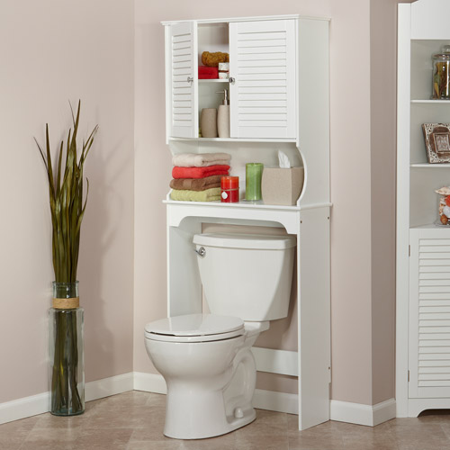 RiverRidge Ellsworth Over The Toilet Spacesaver, White