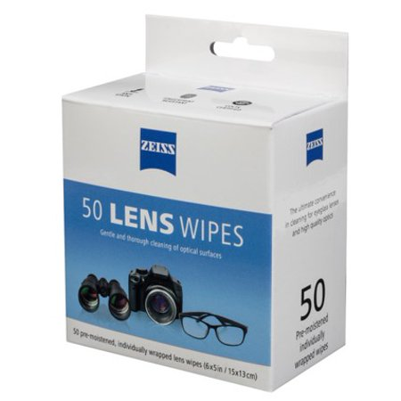 Zeiss Lens Wipes 50ct (Carl Zeiss Lens Cleaner)