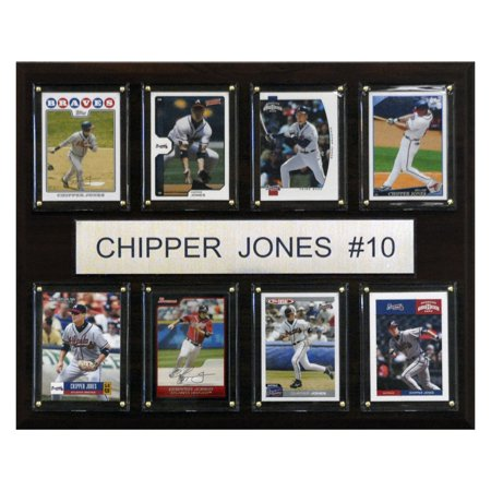 - C&I Collectables MLB 12x15 Chipper Jones Atlanta Braves 8-Card Plaque
