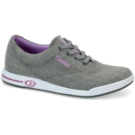 Dexter Kerrie Grey Twill Women's Bowling Shoes, Size 7 Dexter Bowling Shoes Women