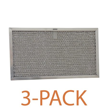 Supco RHF0608 Range Hood Filter (3-Pack) Grease filter specifically designed to fit Broan, and Whirlpool range hoods and microwave ovens.