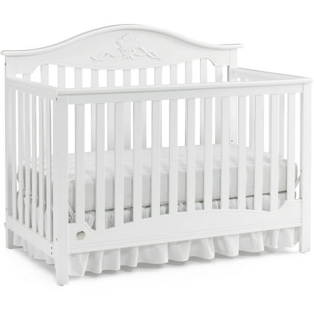 Fisher-Price Mia 4-in-1 Convertible Crib Snow White ()