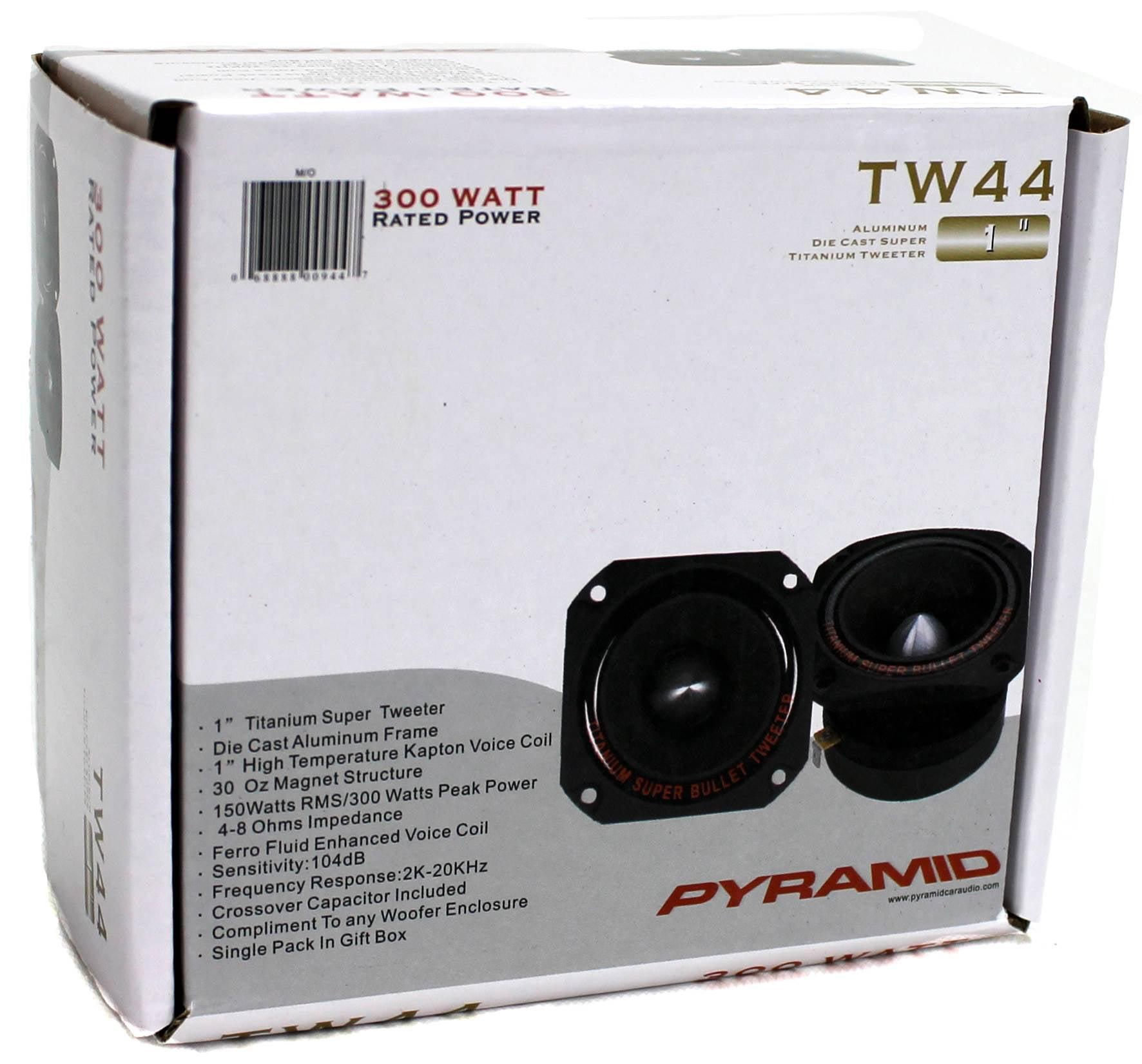 Pyramid TW44 1 300 Watt Heavy Duty Titanium Dome Bullet Car Super Tweeter