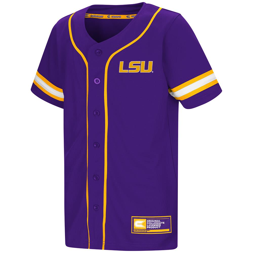 Youth LSU Tigers Baseball Jersey - S