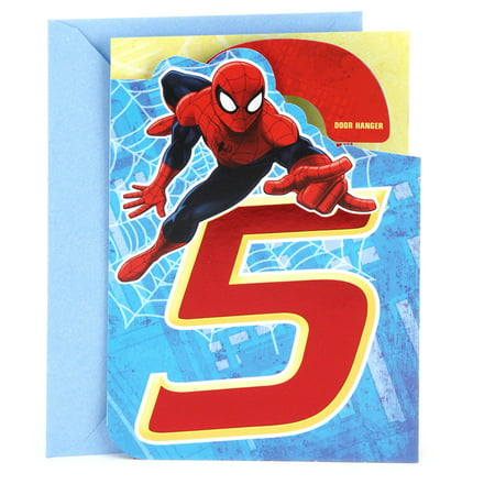 Hallmark 5th Birthday Greeting Card (Spider-Man Door (Doom Card)