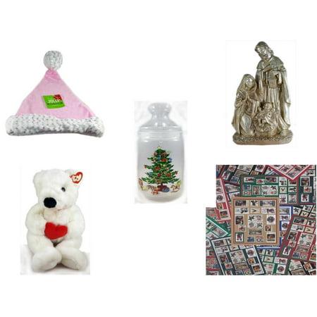 Christmas Fun Gift Bundle [5 Piece] - Be Jolly Pink Santa Sparkle Hat 17