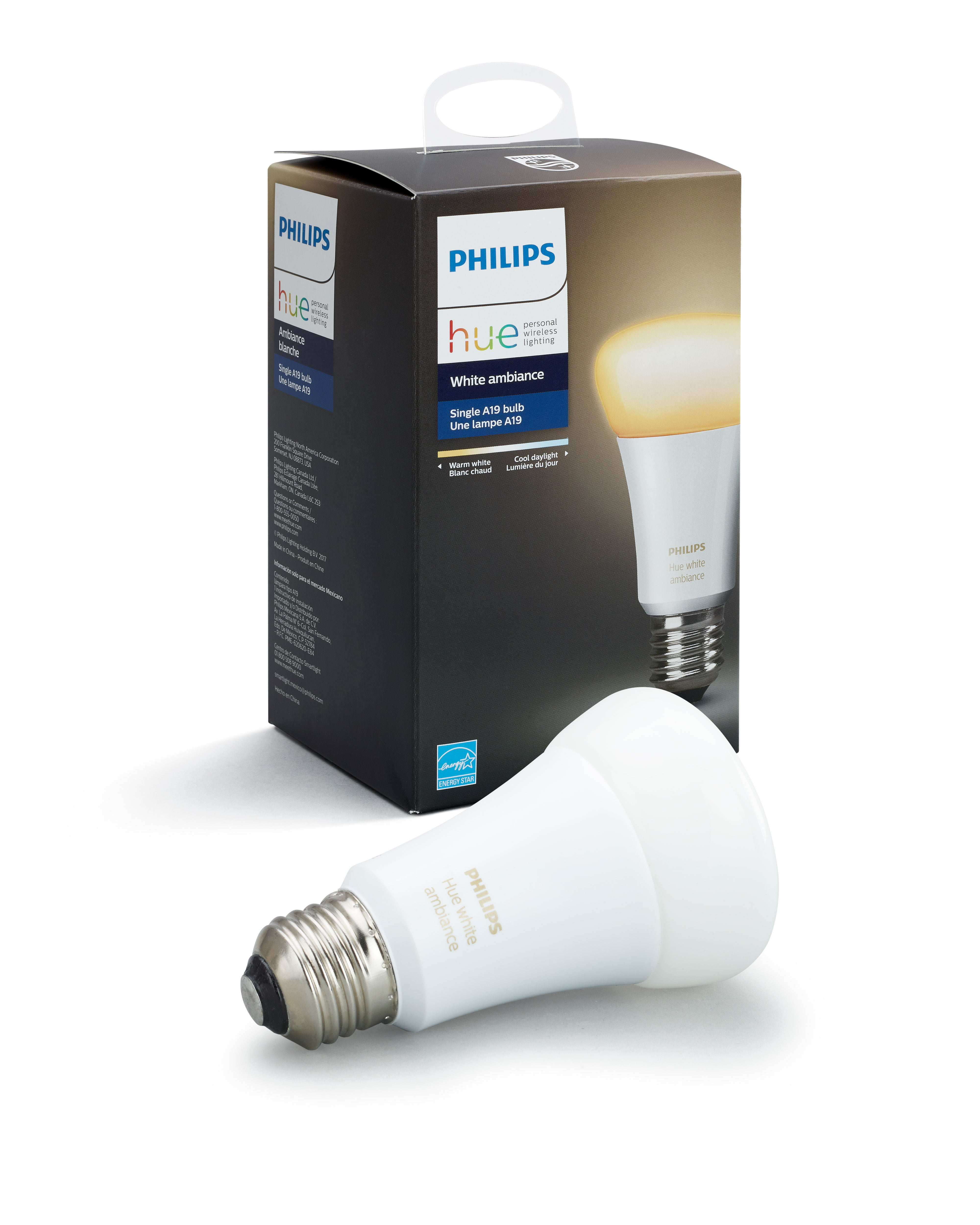Philips Hue White Ambiance A19 LED Single Bulb