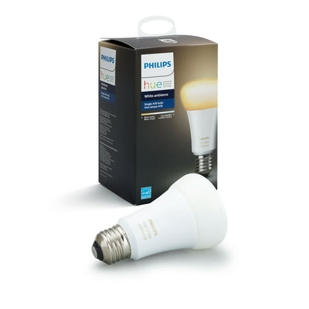 Philips Hue White Ambiance A19 Smart Light Bulb, 60W LED, 1-Pack 965 Ambiance One Light