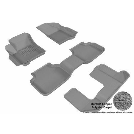 3D MAXpider 2012-2016 Dodge Journey Front, Second, & Third Row Set All Weather Floor Liners in Gray Carpet - Walmart.com