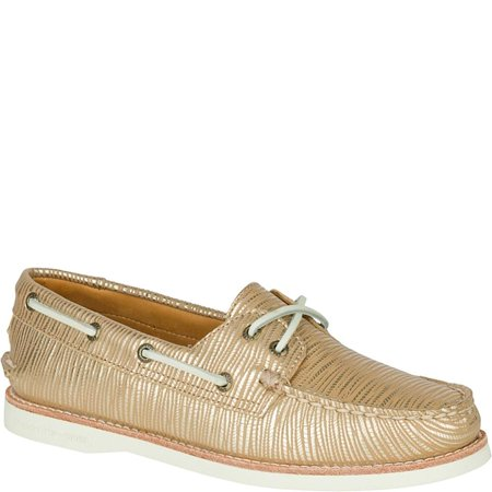 Sperry Gold Shoes (Sperry Top-Sider Gold Cup Womens Gold Boat Shoes )