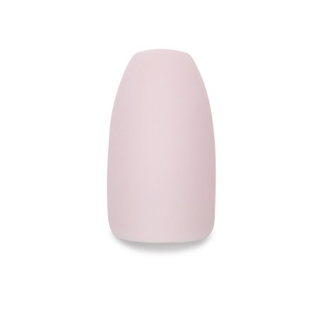Clutch Nails Matte Light Pink False Nails, Fake Nails with Glue (Set of (Best Way To Get Fake Nails Off)