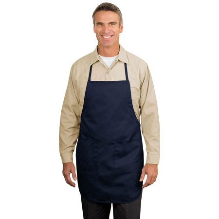 Mid Length Apron (Port Authority Men's Full Length Easy Care Strap Apron )