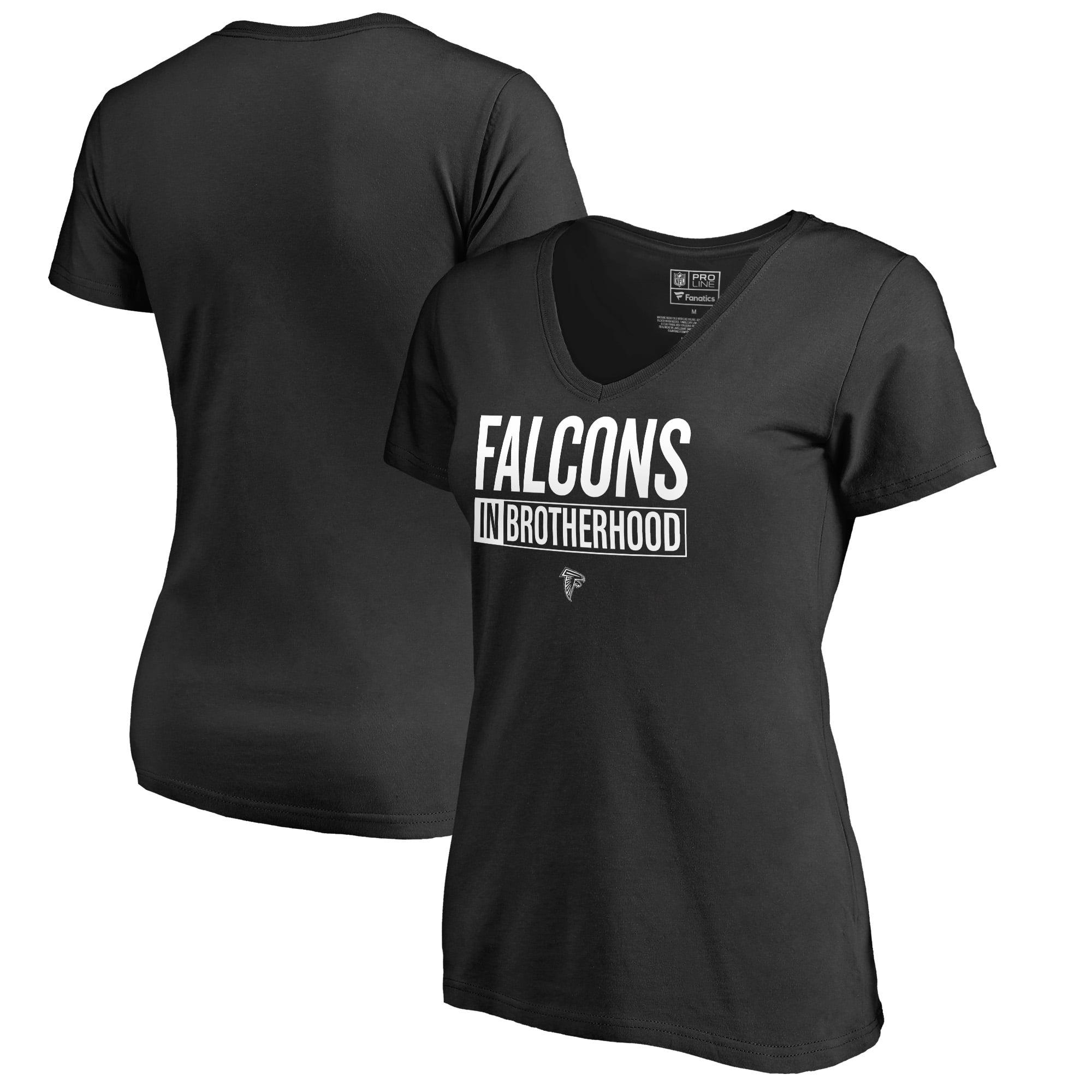 Atlanta Falcons NFL Pro Line by Fanatics Branded Women's Brotherhood Stack V-Neck T-Shirt - Black