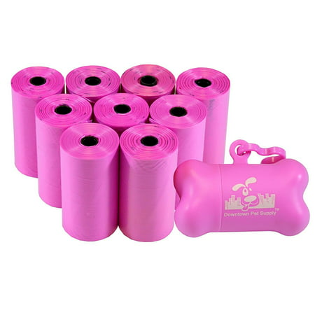 Pet Waste Bags, Dog Waste Bags, Bulk Poop Bags on a roll, Clean up poop bag refills  + FREE Bone