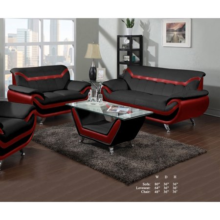 Beautiful Lovely Comfort Classic Red Black Bonded Leather ...
