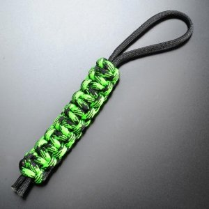 Knotty Boys L000 Zombie Lanyard with Neon Green & Black Hand Tied Parachute Cord Construction Multi-Colored