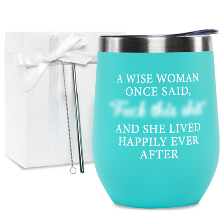 Funny Wine Tumbler With Sayings For Women - Funny Gifts For Women Friends, Mugs With Funny Sayings For Women, Encouragement Gifts For Women, Divorce Gifts For Her - Motivational Gifts For Women - Mint Funny Wine Tumbler - Looking for a funny wine glass that suits its owner's attitude and mantra? This wine tumbler with sayings for women perfectly encapsulates your everyday battle cry. Our funny wine tumblers for women make awesome friendship and inspirational gifts for your boss, mom, daughter, spouse, mother-in-law, grandma, colleagues, and friends. Let them take their favorite refreshing drinks, warm tea, or water wherever they go. Retirement Gifts For Women 2020 - Looking for a beautiful and funny gifts for women? This funny wine glass is equipped with double-walled body and spill-proof lid. Take your beverages to work, school, or during road trips with our funny wine tumbler. These unique gifts for women make awesome retirement gifts for your best friend and female coworkers about to embark another chapter of their wonderful life. Funny Birthday Gifts For Women Friends - This elegant and practical funny wine tumbler has a generous capacity, so you can quench your thirst and relish every drop of your favorite beverage. Our wine glasses with funny sayings for women make terrific gifts for women who has everything. These funny mugs for women could be one of your appreciation gifts for your sister, colleagues, or best friend. Divorcees will also love these wine gifts for wine lovers printed with an inspirational phrase. Wine Tumbler With Sayings For Women - Choose our retirement gifts for women 2020 for family members who love taking out their tea, coffee, wine, juice, and soda outdoors. This wine gifts for women is also a perfect gifts for her retirement, graduation, promotion, and anniversary. These mugs with funny sayings for women is fun encouragement that its woman owner is still fabulous no matter her age. If you're looking for a birthday gift for women or insp