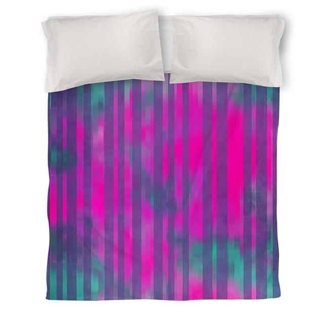 IDG Stripes Pink Turquoise Duvet Cover
