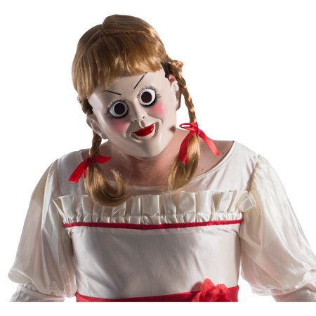 Annabelle: Creation Annabelle Mask With Wig Halloween Costume Accessory
