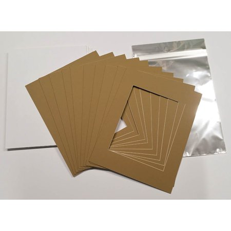 10x12 White Picture Mats with White Core for 8x10 Pictures - Fits ...