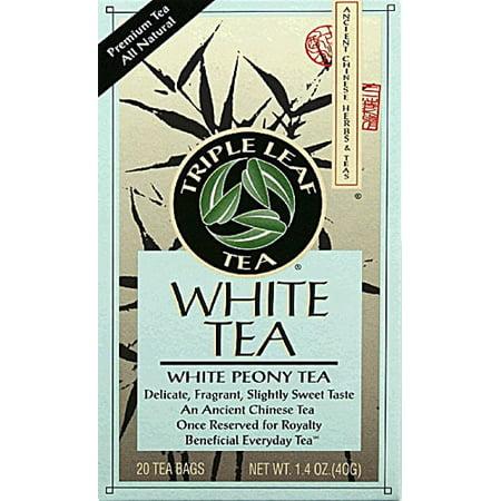 Triple Leaf Tea White Tea - 20 Tea Bags (Triple Life Tea)