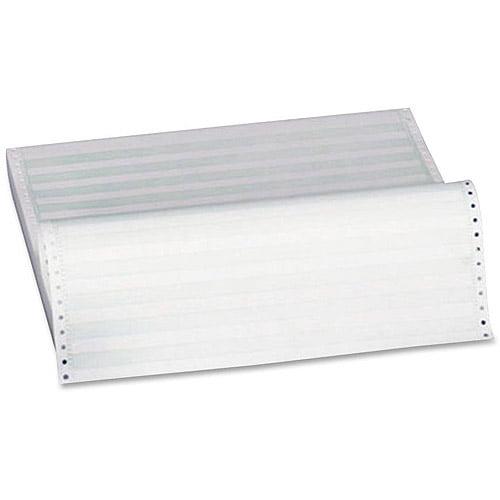 Sparco Contents-Form 1-Part Green Bar Computer Paper
