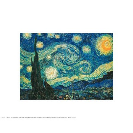 10 Piece Poster (Starry Night Poster Print by Vincent van Gogh (10 x)
