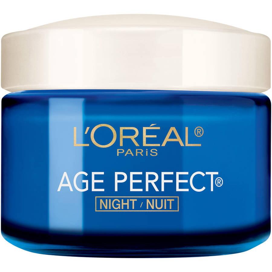 L'Oreal Paris Age Perfect Night Cream for Mature Skin,  2.5 oz