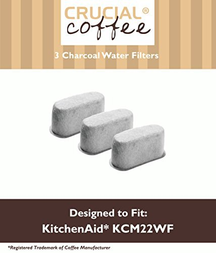 3 KitchenAid Charcoal Coffee Filters Fit KCM222 & KCM223 Water Filter Pod & Coffee Makers, Compare to Part #... by Crucial Vacuum