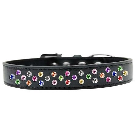 Sprinkles Dog Collar Confetti Crystals Size 14 Black