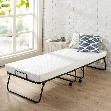 Zinus Roll Away Folding Guest Bed With 4 Inch Comfort Foam