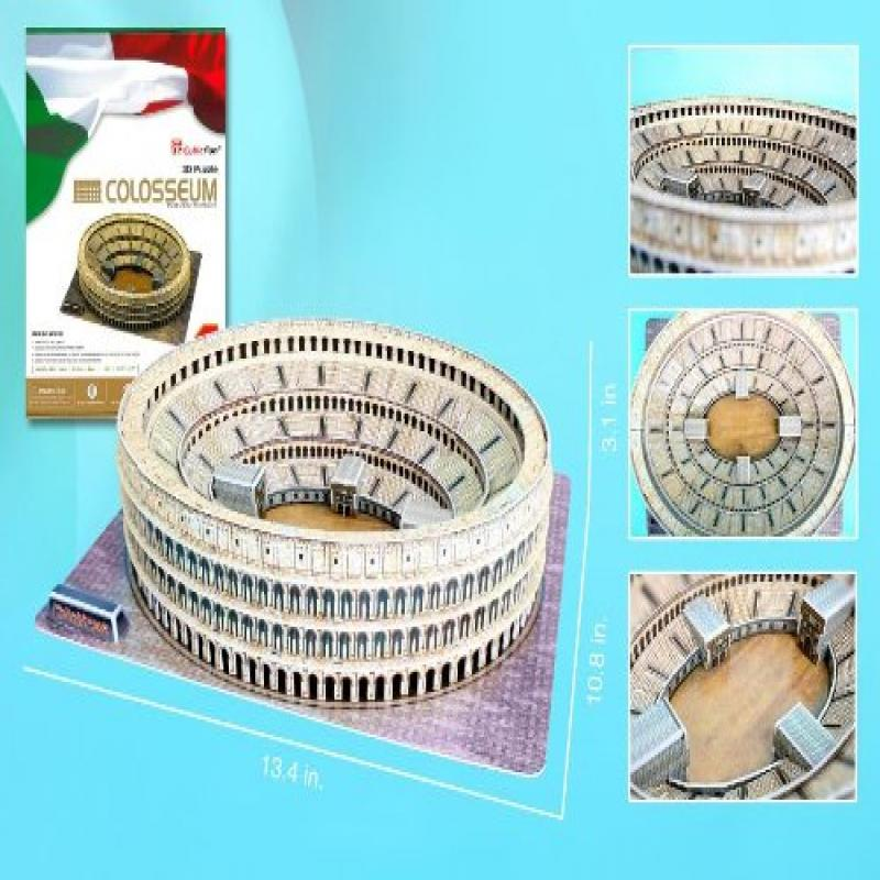 Roman Colosseum 3D Puzzle with Book, 84-Piece by Daron