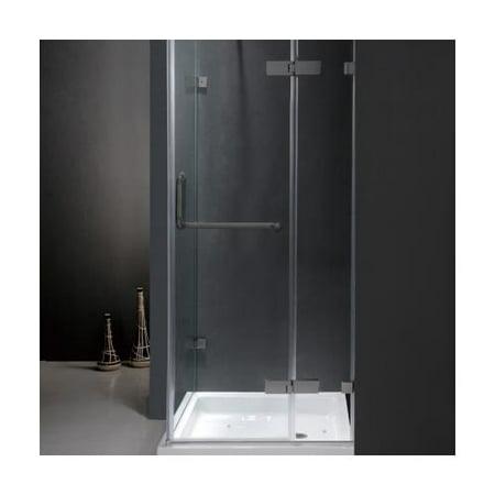 Vigo Vg6011bncl32w 32 X Corner Shower Enclosure With Frameless Design Acrylic Fiberglass Base