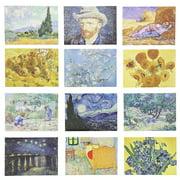"12-Pack Vincent Van Gogh Art Inspired Refrigerator Fridge Magnets Assorted Designs 3.5"" x 2.5"""