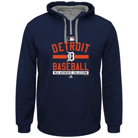 Detroit Tigers Majestic Authentic Collection Team Property On Field Therma Base Hoodie - Navy