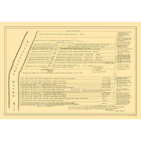 3330 Wall - St Philippe Illinois Landowner - Rector 1809 - 23 x 33.30
