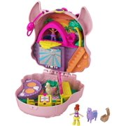 Polly Pocket Llama Music Party Compact, 2 Micro Dolls & Accessories