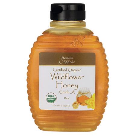 Swanson Certified Organic Raw Wildflower Honey 16 oz