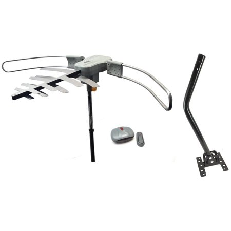 Premium HDTV Long Range Digital TV Antenna Air TV Stations, Includes Roof Mounting J-Pole ()