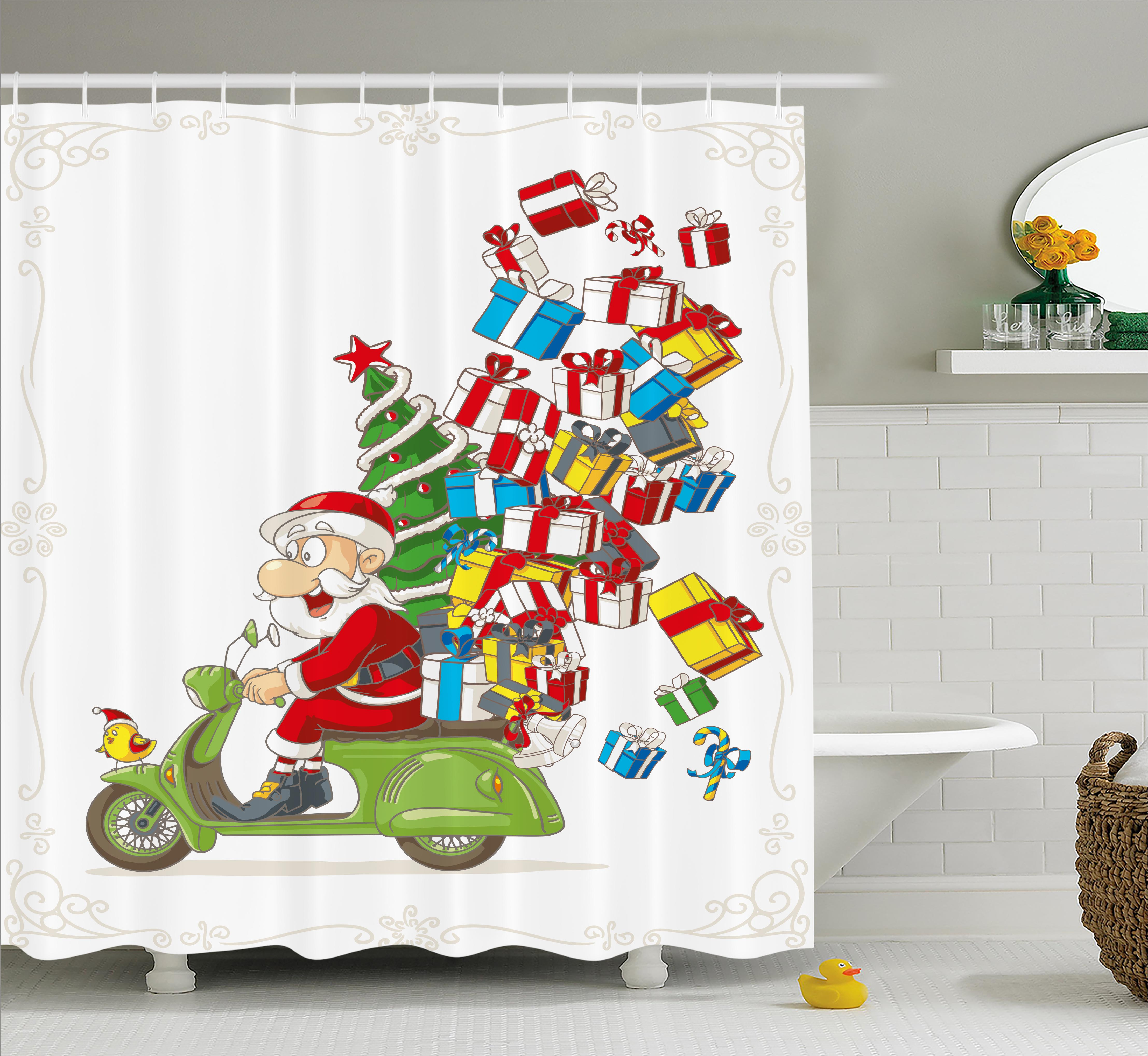 kids bathroom sets walmart shower curtain set santa on motorbike scooter 18979