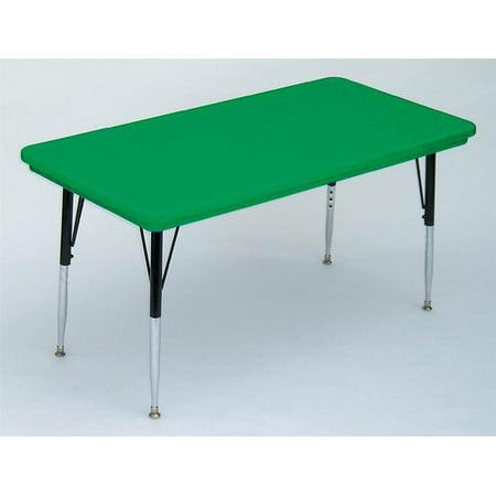Correll Small Rectangular Activity Table Green Short Green
