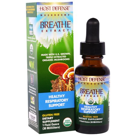 Fungi Perfecti, Host Defense Mushrooms, Organic Breathe Extract, Healthy Respiratory Support, 1 fl oz (30 ml)