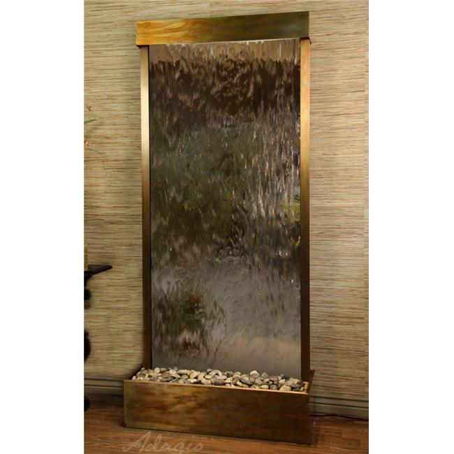 Adagio TRF1041 Tranquil River Flush Mount Free Standing Fountain - Rustic Copper-Bronze-Mirror