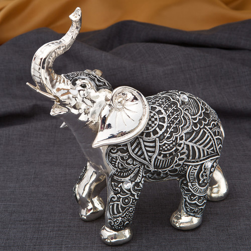 Fashion Craft Marble Elephant Boho Fiesta Figurine by Overstock