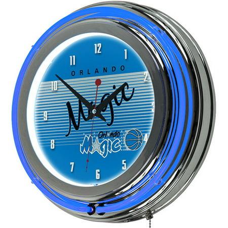 Orlando Magic Hardwood Classics NBA Chrome Neon Clock by