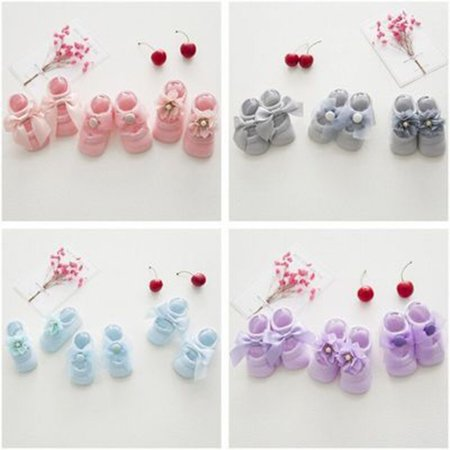Baby-Girls Bow Tie Lace Socks Newborn/Infant/Toddler/Little Girls Socks - image 4 de 8