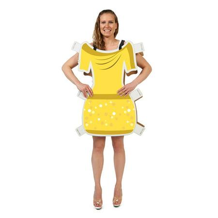 Doll Costume Dress (Beauty Yellow Dress Paper Doll)